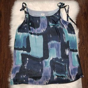 Together   Blue Abstract Print Tank Top Shirt 16